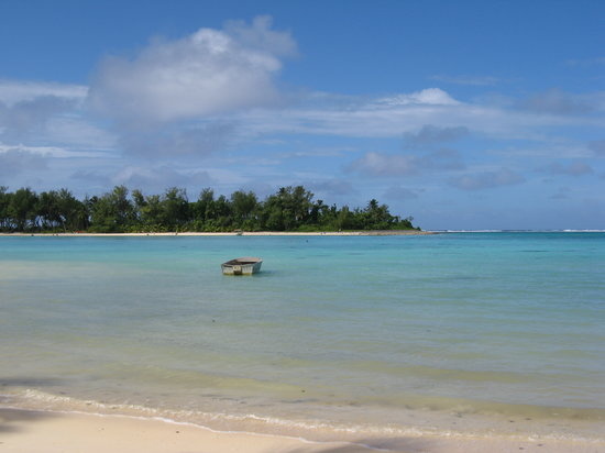 Muri, Cook Islands: Beach in front of resort