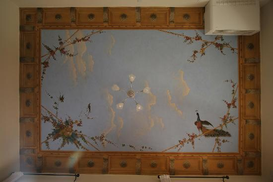 painted ceiling