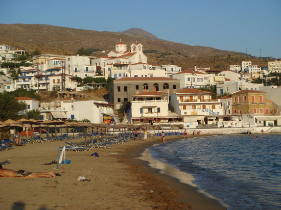 Andros, Grecja: Beach of Batsi