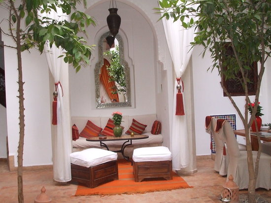 Riad Zolah: The courtyard. A sanctuary in a mad city.
