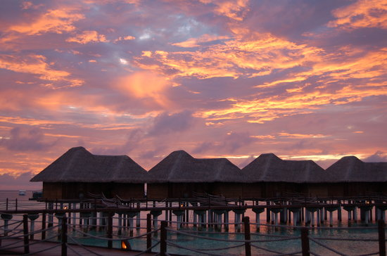 Maldives: Bungalows by night