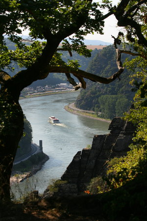 Rheinland-Pfalz, Deutschland: Loreley Rock, Middle Rhine Valley
