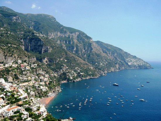 Positano, Italy: Vista de Costa de Amalfi - Italia