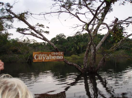 Cuyabeno Lodge: Cuyobeno Lodge entrance