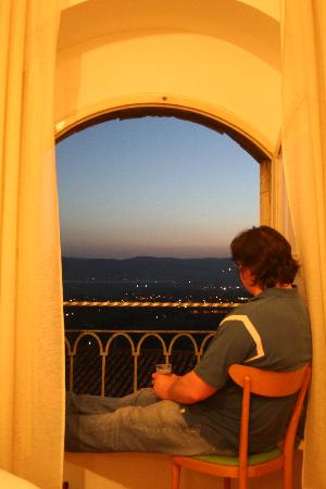 Minerva: Enjoying the view from our room