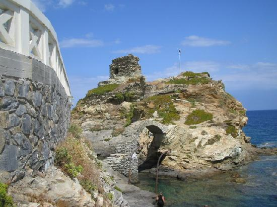The old Venetian castle above the town of Andros (Chora)