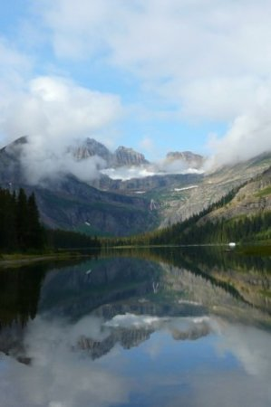 East Glacier Park, มอนแทนา: View from Grinnell Lake trail