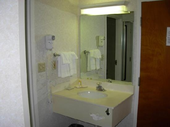 Comfort Inn - Boston: half the bathroom outsite the actual bathroom