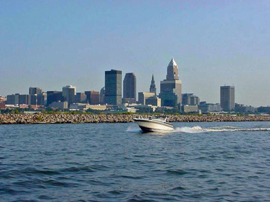 Cleveland seen from Lake Erie