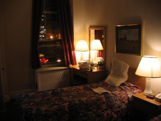 Room At Night Picture Of Hotel Harrington Washington Dc