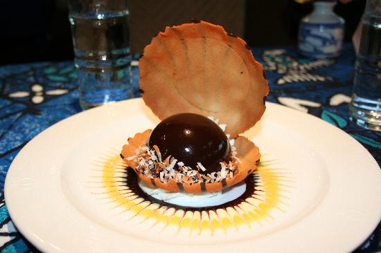 Black pearl chocolate mousse for The inn at mama s fish house