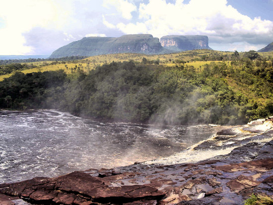 Parc national Canaima, Venezuela : From the top of the waterfall