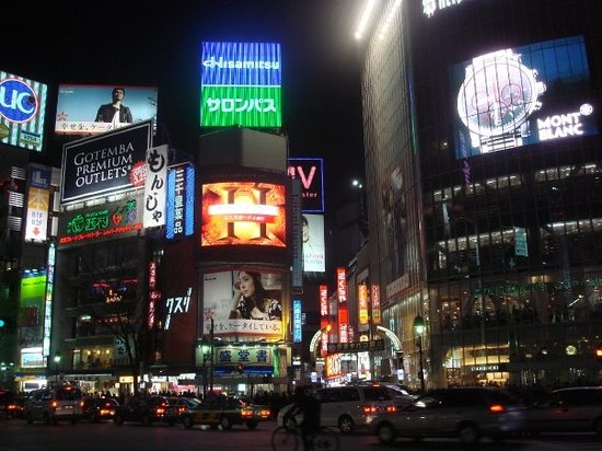 Shibuya at night.