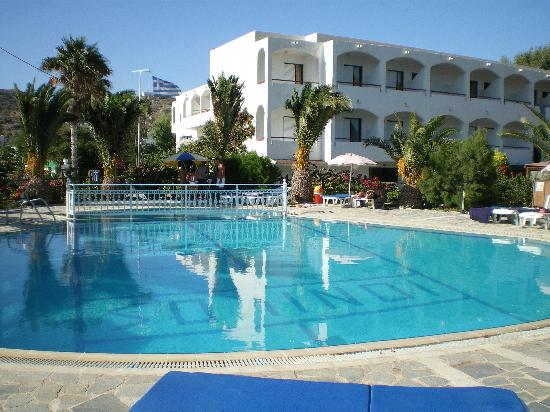 Kefalos, Yunani: Hotel from the pool area