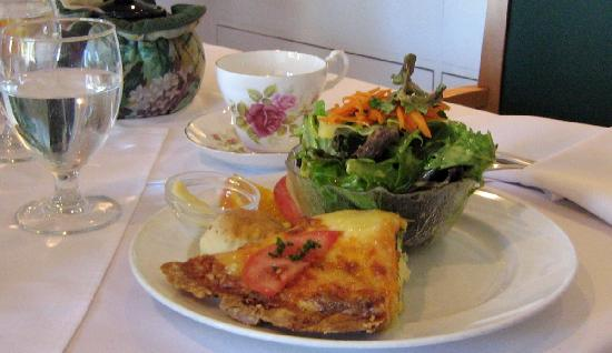 White Heather Tea Room: quiche of the day