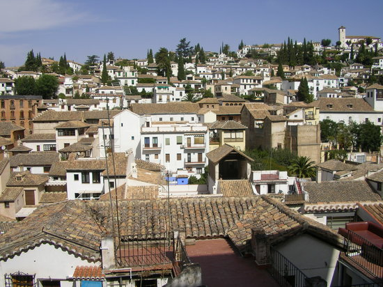 Granada Province, Spanien: View over Granda