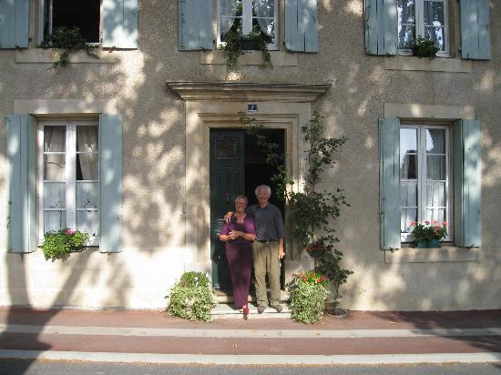 Ginestas, France: Anne and Ted outside number 7