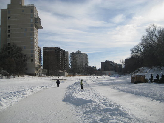 Winnipeg, Kanada: Skateing on the worlds longest outdoor skating rink