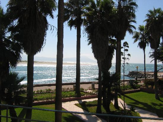 view from the room picture of estero beach hotel. Black Bedroom Furniture Sets. Home Design Ideas