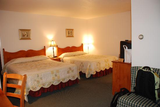 Willows Motel: The room. The bed covers differ from room to room