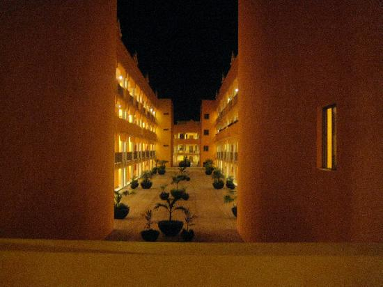 The Royal Haciendas: View of the hotel at night