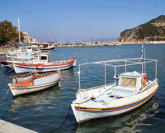 Boats in Skopelos harbour