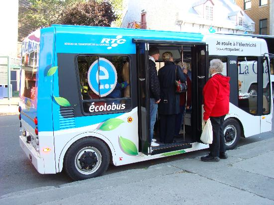 Au Chateau Fleur de Lys: Free electric bus in Upper Old City (goes to various other locations, as well).