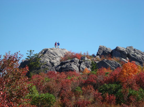 Abingdon, Βιρτζίνια: Casual Rock Climbing in Greyson Highlands State Park