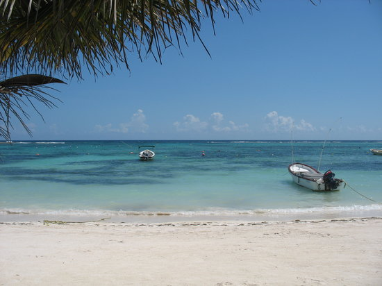 Akumal, Mexico: looking out over the reef