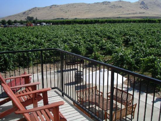 Sequoia View Bed & Breakfast: balcony of the winemaker's suite