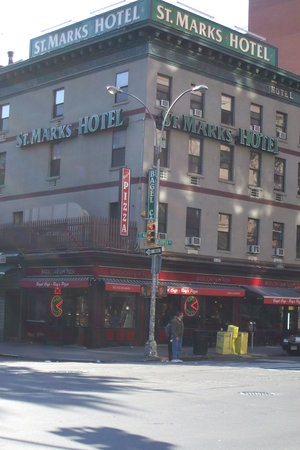 St. Marks Hotel: Outside-corner of 3rd Ave/St Marks