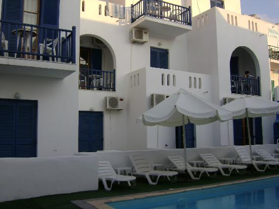 Hotel Frangiscos Inn: Rooms over the pool area