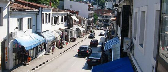 Ulcinj&#39;s Main Street on a quiet day after season