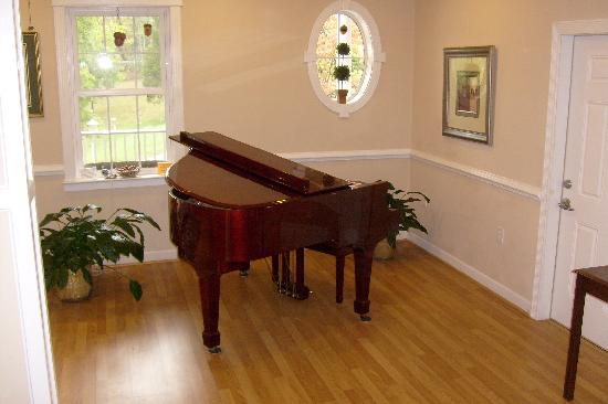 Acorn Hill Lodge and Spa: Music, anyone?  Or perhaps you would prefer the chair massage; both in the lobby!