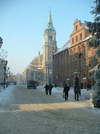 Torun in the snow