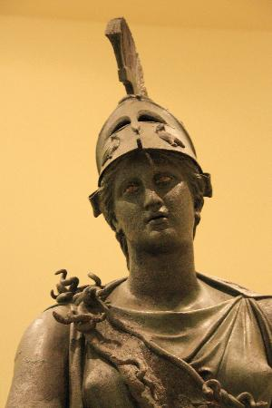 Piraeus, : Bronze statue of Athena