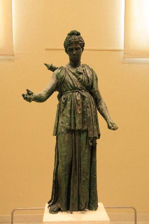 Piraeus, : Bronze statue of Artemis