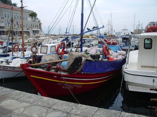 Hotel Orloff: fishing boats in the harbour