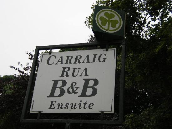 Carraig Rua B&B: Sign on the street
