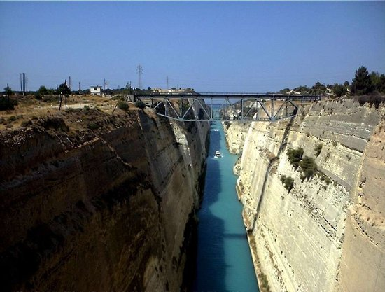 Tourist Attractions In Corinth Greece Corinth canal greece