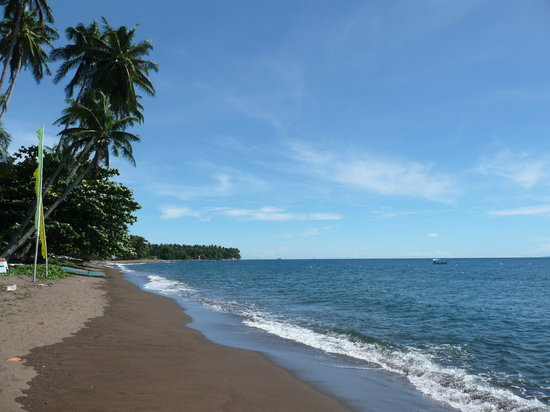Dauin, Filippinerna: Beach at El Dorado