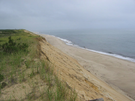 Wellfleet, : The view at Marconi Beach