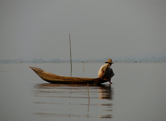 Myanmar: Fisherman on Inle Lake