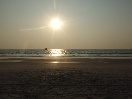Colva, Inde : sunset at the beach