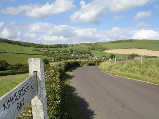 Kimmeridge village from the lane to the sea