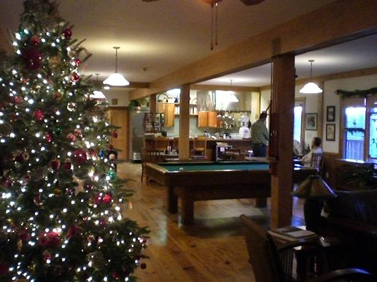 Bent Creek Lodge: Christmas decorations and kitchen