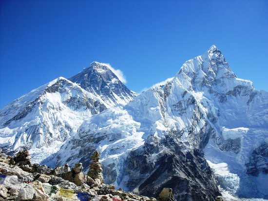 Sagarmatha National Park, Nepal: The classic view - Everest from Kala Pattar
