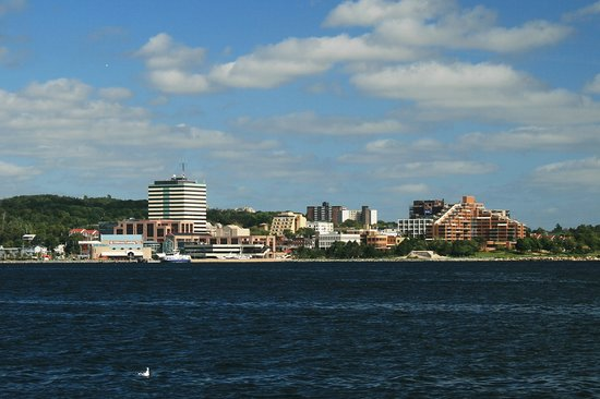 , : View of Dartmouth from Halifax Harbor