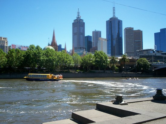 Melbourne from the dock