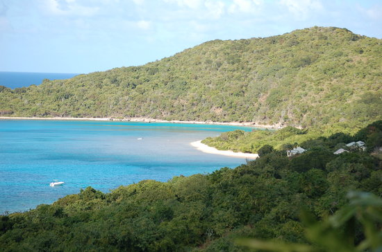 Spanish Town, Virgin Gorda: View from Island Oasis (of Long Bay)